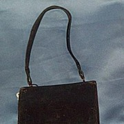 Leather Purse With Opera Glasses, Late Victorian