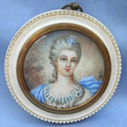 Portrait Miniature on Ivory of, Lady , Victorian