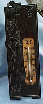 Thermometer, Bronze, Victorian, French
