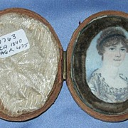 Portrait Miniature on Ivory of Lady,  Early Victorian