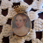 Portrait Miniature  of Contessa