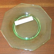 Decagon Blank, Green, Cambridge Glass, dessert plate