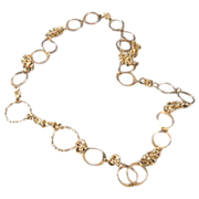 Sterling silver chain & link necklace