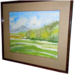 Watercolor landscape by Mary Stuart  early california artist