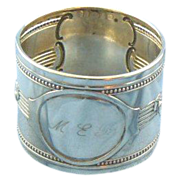 German napkin ring rose design 800 silver