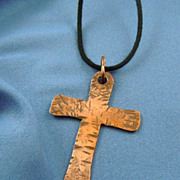 Large distressed copper cross