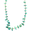 Native American large turquoise & heishi necklace