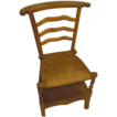 Prier Dieu French chair woven seat fruitwood