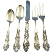 Moselle grape 5 piece place setting American silver co. silverplated