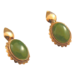 Jade siberian 14k rose gold pierced earrings
