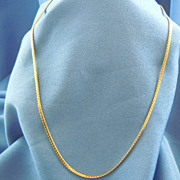 Gold necklace chain 14kt gold Italy
