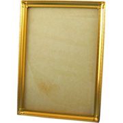 "Brass embossed picture frame 5"" x 7"""