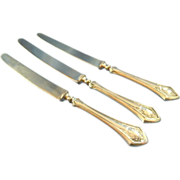 Melon knives sterling handle antique (3)