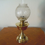 Brass kerosene lamp old