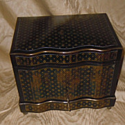 French ebonized & brass inlay Tantalus  ornate