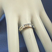 Platinum channel set diamonds 950 band ring