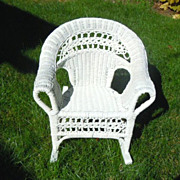 Wicker rocker for child