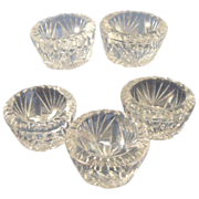 Crystal Cut Glass Salt Cellars 5