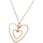 Floating rose gold hearts 14k Gold Pendant