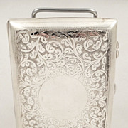 Wonderful antique silver cigar case Birmingham 1905