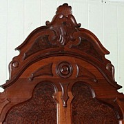 Walnut Victorian High Back Lincoln Style Bed