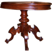 Walnut Victorian Center Table or Lamp Table Oval Wood Top