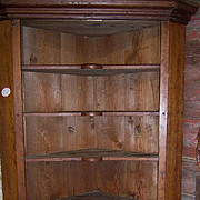 Cherry Wood Corner Cupboard, 1840 Primitive Country