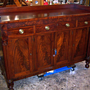 SOLD Empire Sheraton Federal Mahogany Sideboard 1830-40