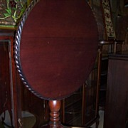 Mahogany Tea Table, Tilt Top Chippendale Style Gadrooned Edging