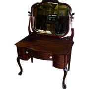 Mahogany Vanity, Dressing Table, Desk
