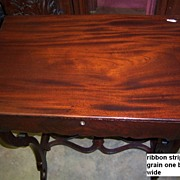 Mahogany Writing Desk, Empire Period with Flame Grain Drawer