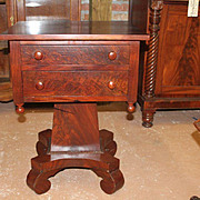 Mahogany Empire Period Stand,Two Drawer 1830