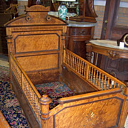 SOLD Birds Eye Maple, Renaissance Revival Youth Bed, Crib, Baby Bed,