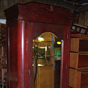 Mahogany Finish Armoire or Wardrobe, Single Door