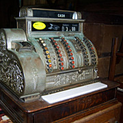 National Cash Register, Empire Style, Brass, 1915