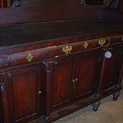 Mahogany  Federal Empire Period Sideboard 1820