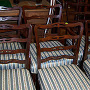 Chippendale Style Ladder Back Dining Chairs
