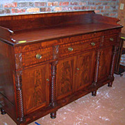 Mahogany Federal Empire Sheraton Period Sideboard 1820