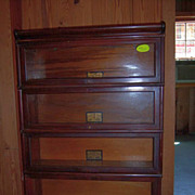 Mahogany Globe Wernicke Stacked Barristers Lawyers Bookcase