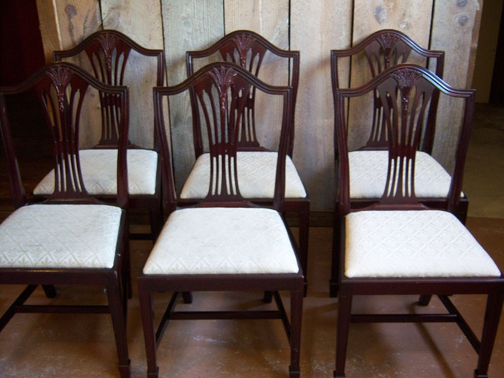 Mahogany Dining Chairs Hepplewhite Sheraton Style Set Of 10 From Robertsantiques On Ruby Lane