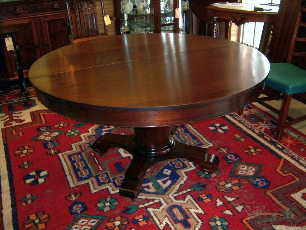 mahogany dining table  federal empire style  5 leaves from robertsantiques on ruby lane