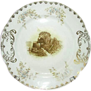 SALE Imperial Karlsbad China Transferware Plate, PB 2370