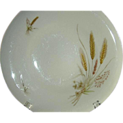 "SALE Winterling Bavarian China ""Wheat"" Set of 8 Dinner Plates, 1940's"
