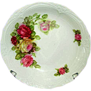 SALE German Porcelain Bowl, Pretty Pink Roses Pattern