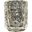 Coronet Clear Pressed Glass Toothpick Holder - Grapes and Leaves Pattern