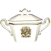 "Royal Sealy ""Chantilly"" Porcelain Sugar Bowl ~ Gold Crest ~ JAPAN"
