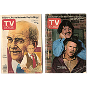 SALE TV Guides ~ 1974 Chico and the Man and 1977 Lou Grant ~ Freddie ...