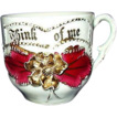"Sentimental Drinking Cup ""Think Of Me"" with Gold Trim, Germany"