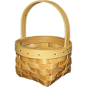 SALE Maple Splints Round Basket Hand Woven