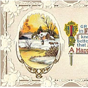 SALE 1910 Embossed Happy New Year Post Card